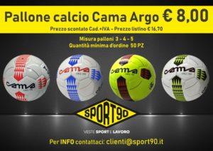 Promo Pallone calcio Cama Argo a solo € 8,00. Mis.3-4-5 in vari colori