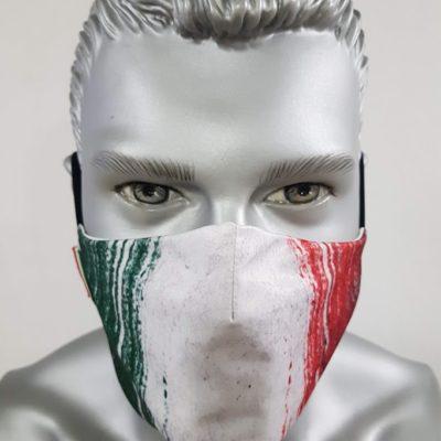 mascherina maskline by sport90 bandiera italia vintage