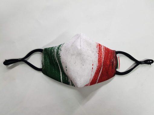 mascherina maskline by sport90 tricolore bandiera vinatge.