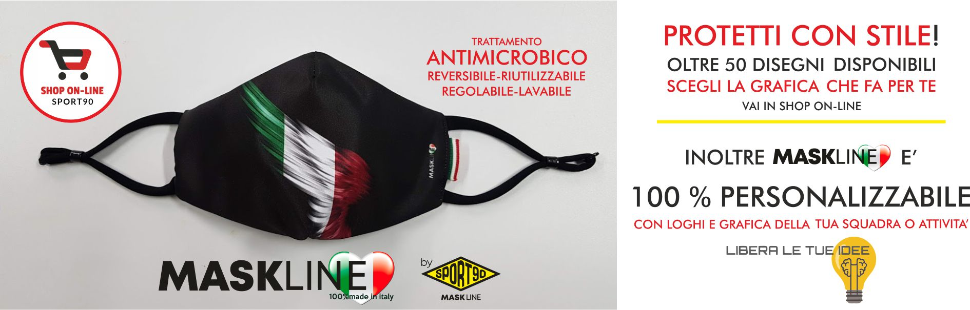 mascherine totalmente personalizzate sport90