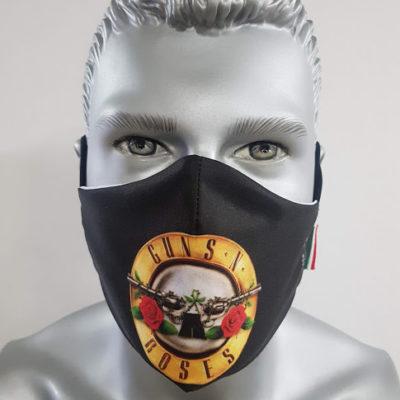 mascherina maskline by sport90 guns n'roses gruppo