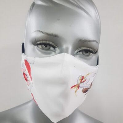 mascherina maskline by sport90 babbo natale e renna white donna