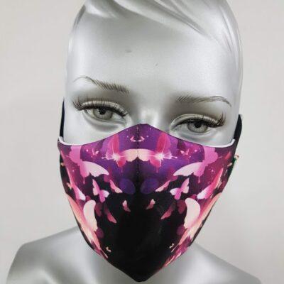 mascherina maskline by sport90 farfalle fronte
