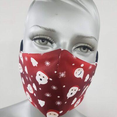 mascherina maskline by sport90 texture babbo natale red