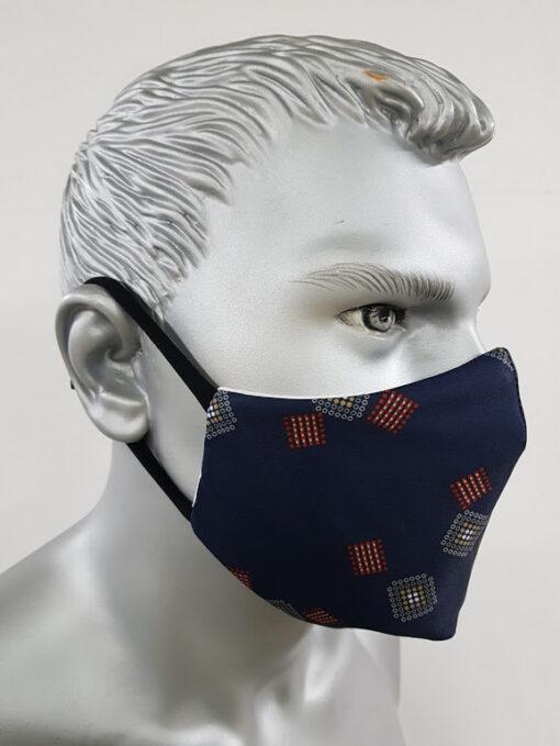 mascherina maskline classica check quadretto blu