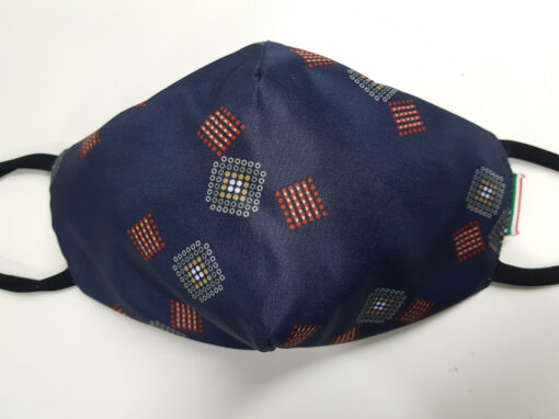 mascherina maskline classic check quadretto cravatta