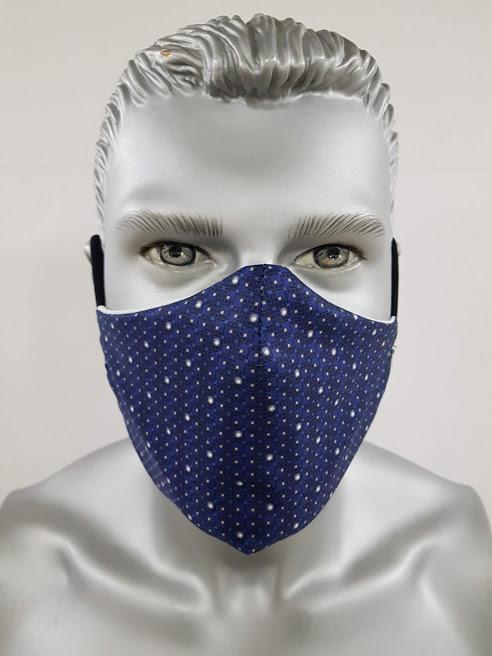 mascherina maskline fantasia classic blu fronte