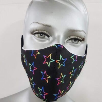 mascherina maskline stelle colorate