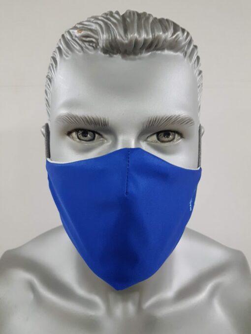 mascherina maskline tinta unita royal