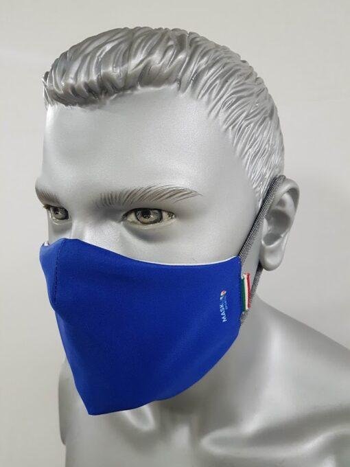 mascherina maskline tinta unita azzurra