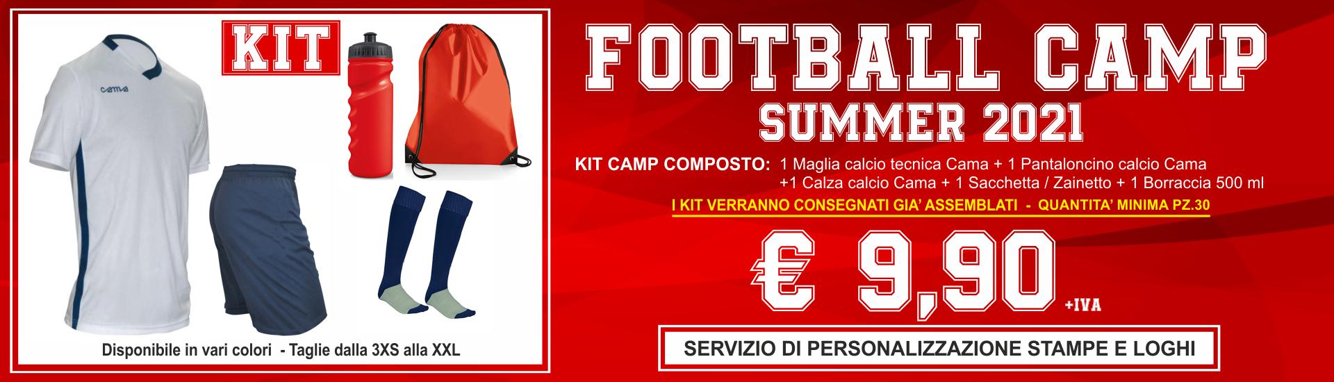 cama sport kit camp 2021 stampe personalizzate