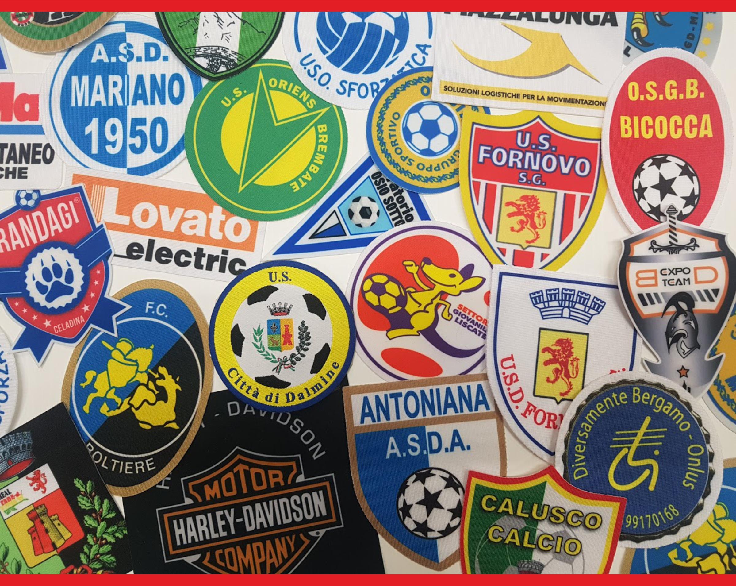 patch logo squadre e aziende da aplicare